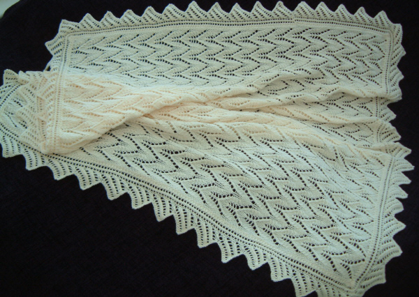 No 12 Lacy Baby Shawl